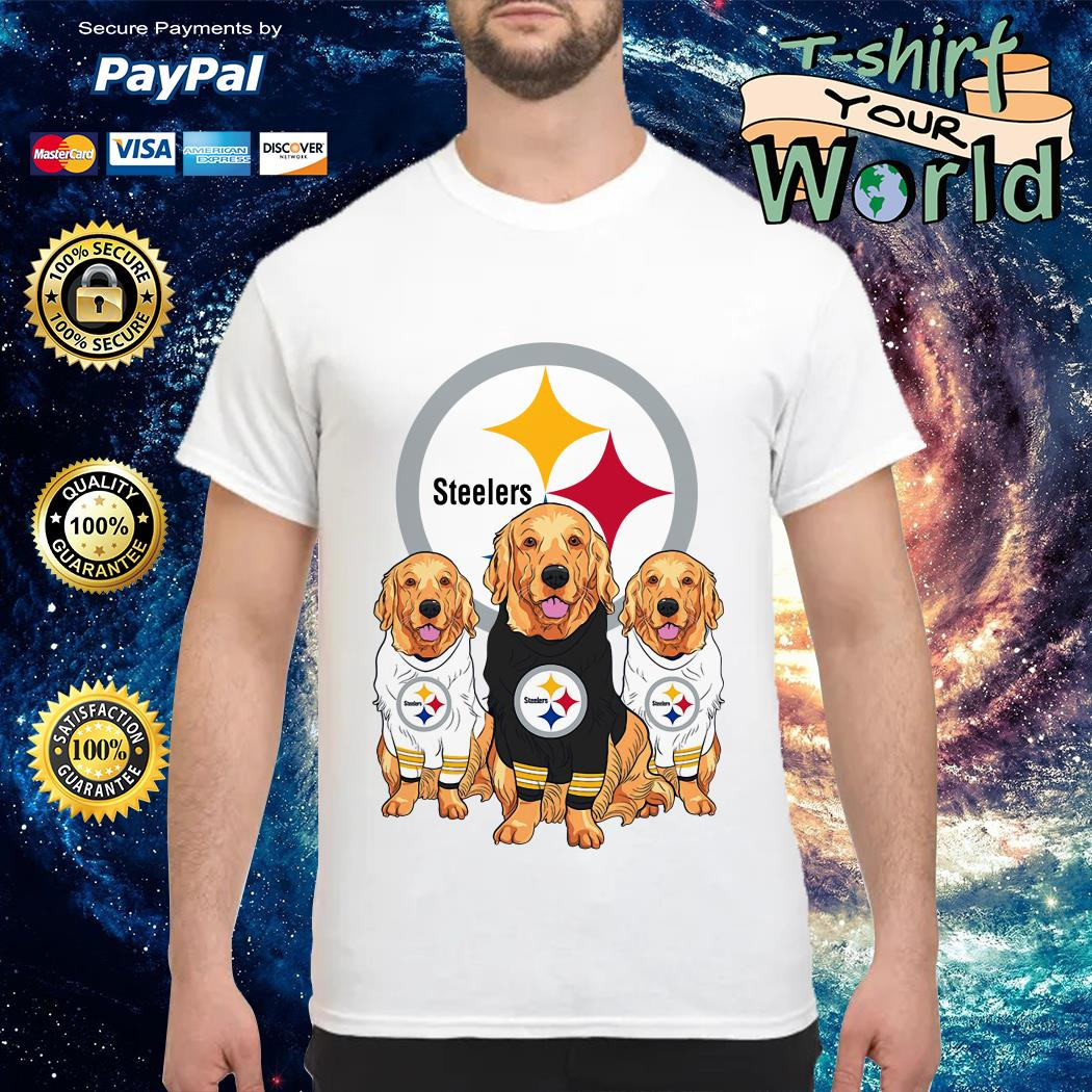 Pittsburgh Steelers and Dog Golden Retriever shirt