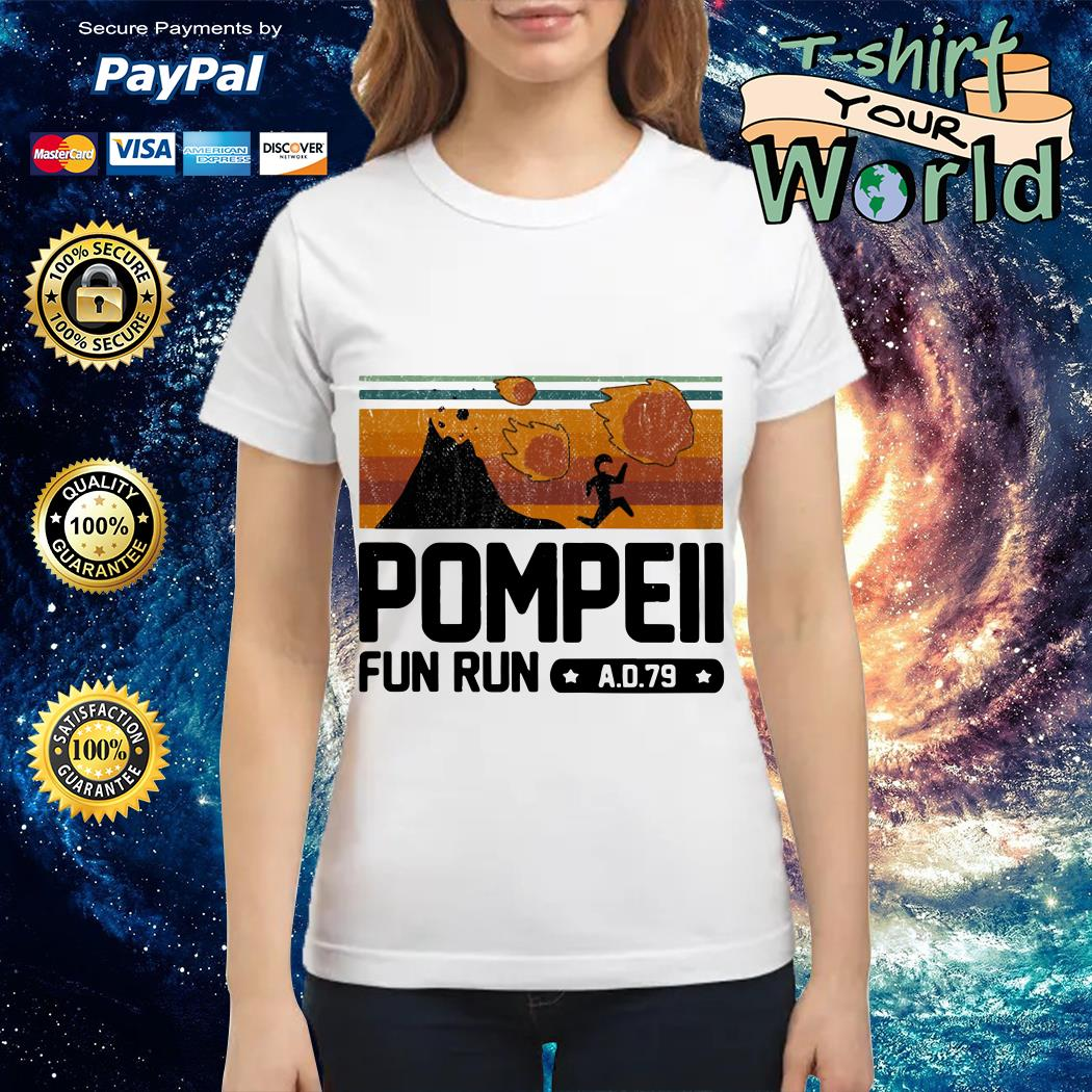 Pompeii fun run AD 79 vintage Ladies tee