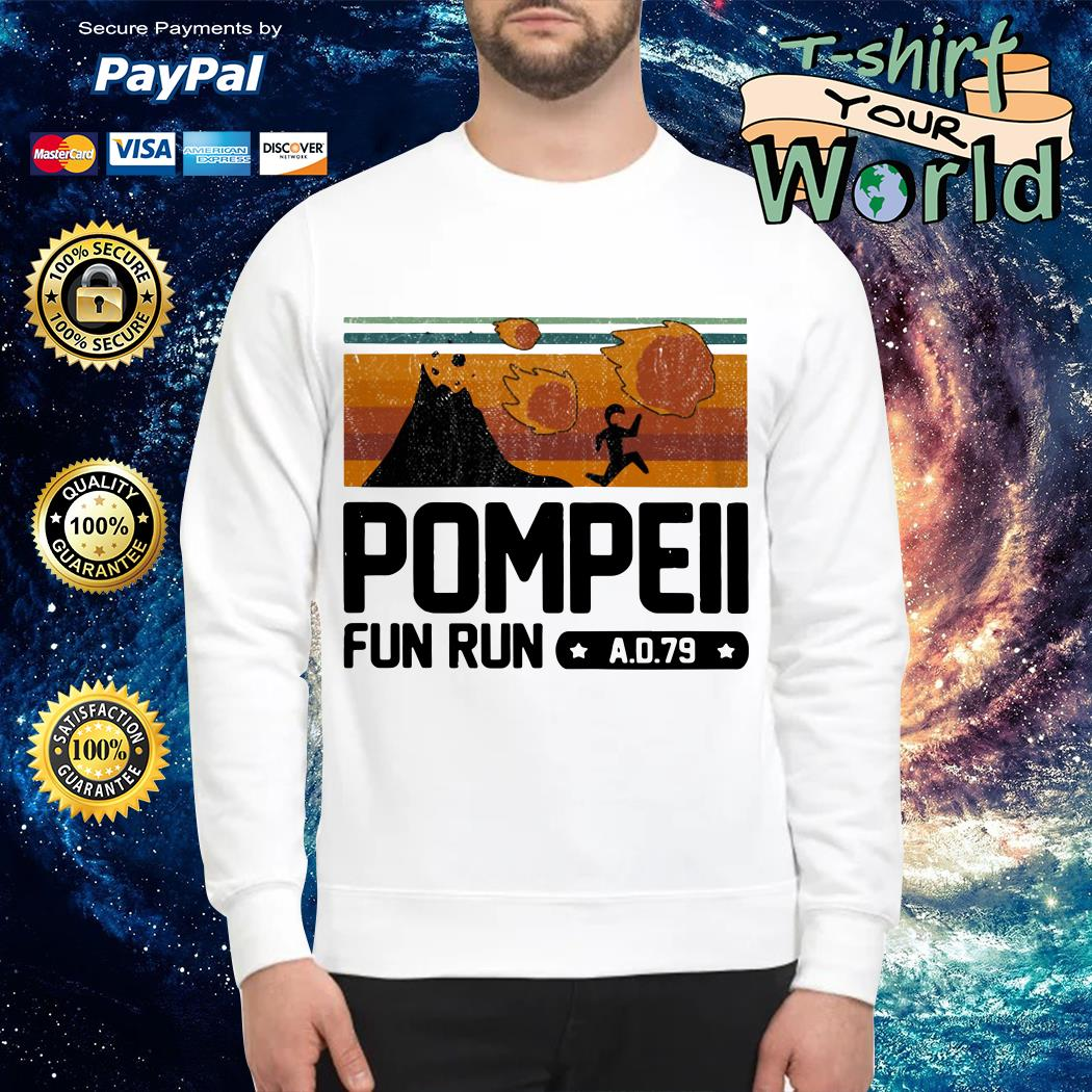 Pompeii fun run AD 79 vintage Sweater