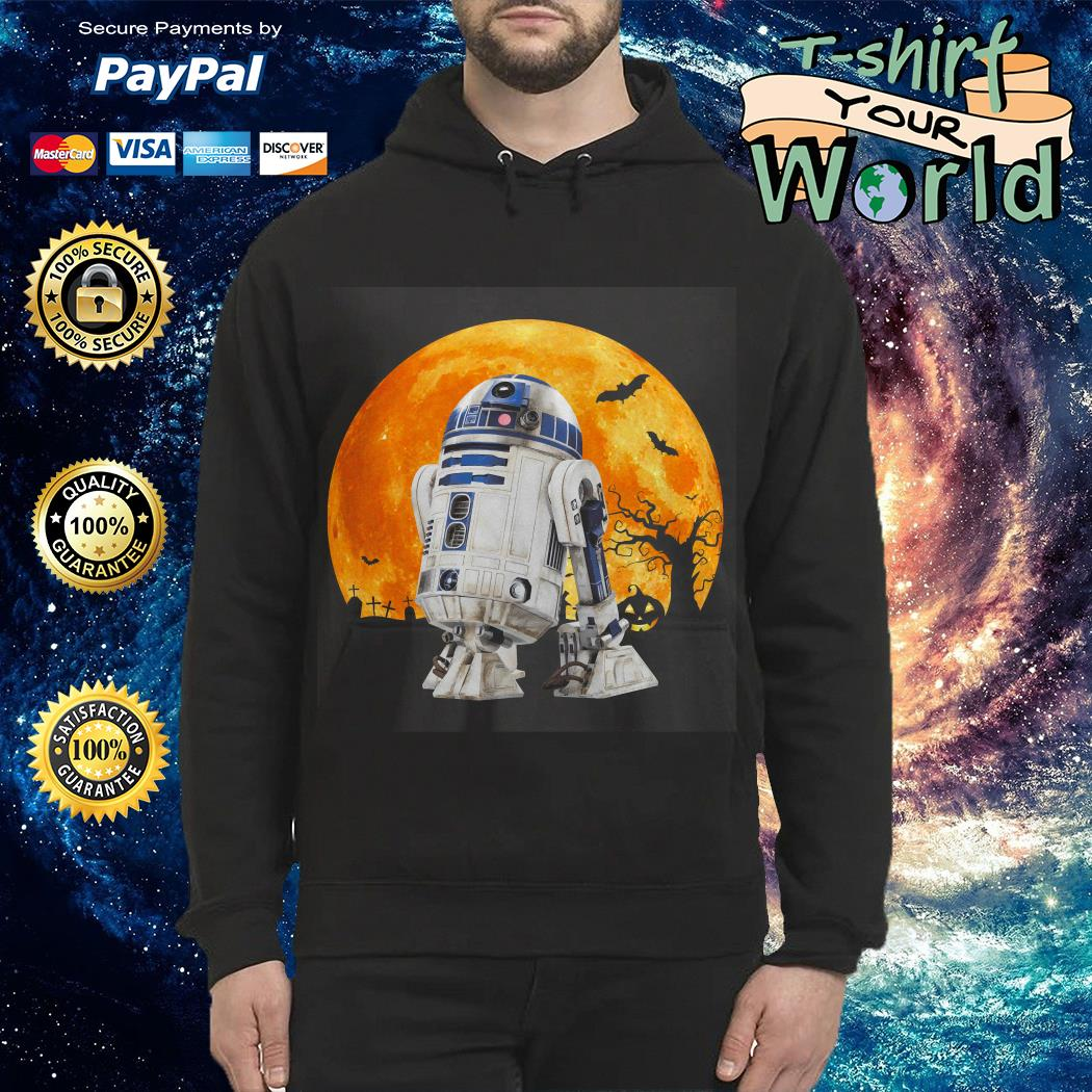 R2d2 Star Wars in the midnight moon Halloween Hoodie