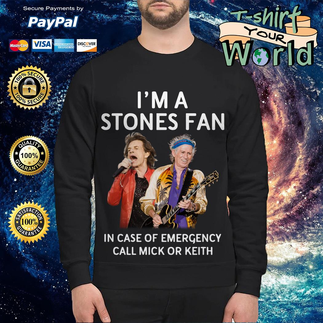 The Rolling Stones In Case Of Emergency Call Mick Or Keith Sweater