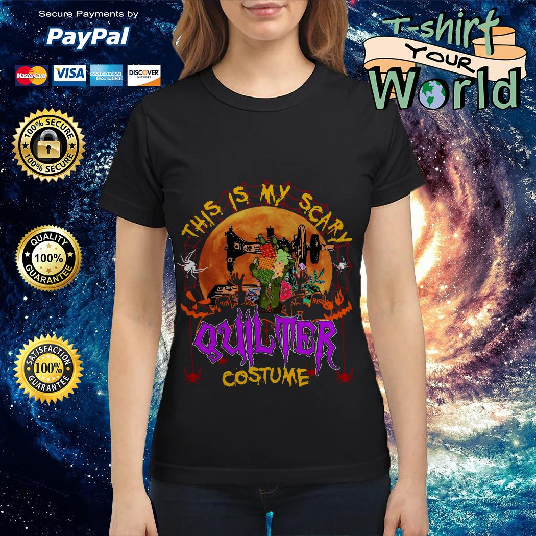 This Is My Scary Quilter Costume Ladies tee