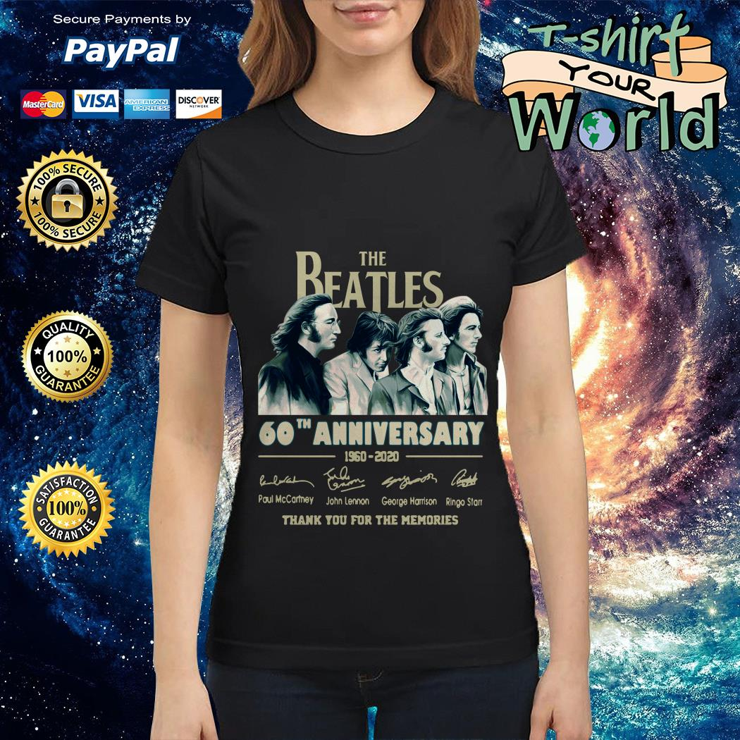 The Beatles 60th anniversary 1960-2020 thank you for the memories Ladies tee