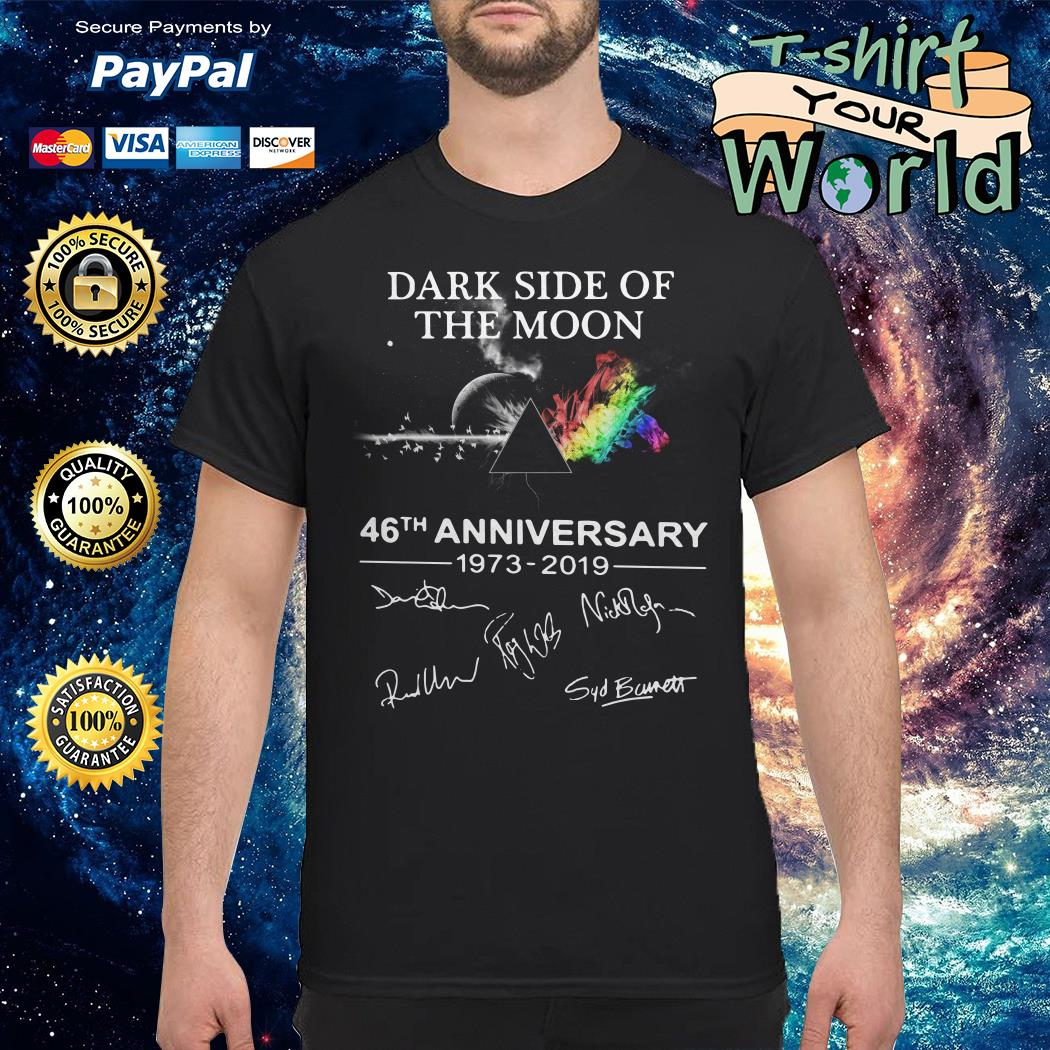 The Dark Side OThe Dark Side Of The Moon 46th anniversary 1973-2019 signature shirtf The Moon 46th anniversary 1973-2019 signature Sweater