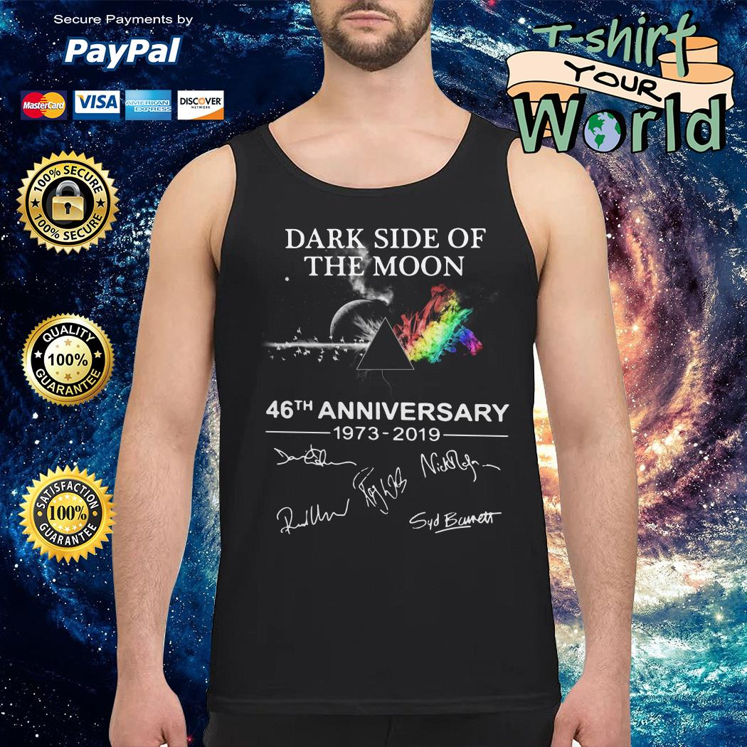 The Dark Side Of The Moon 46th anniversary 1973-2019 signature Tank top