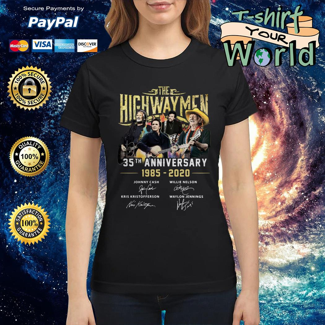 The Highwaymen 35th anniversary 1985 2020 signature Ladies tee