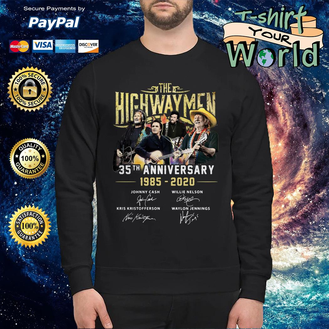 The Highwaymen 35th anniversary 1985 2020 signature  Sweater