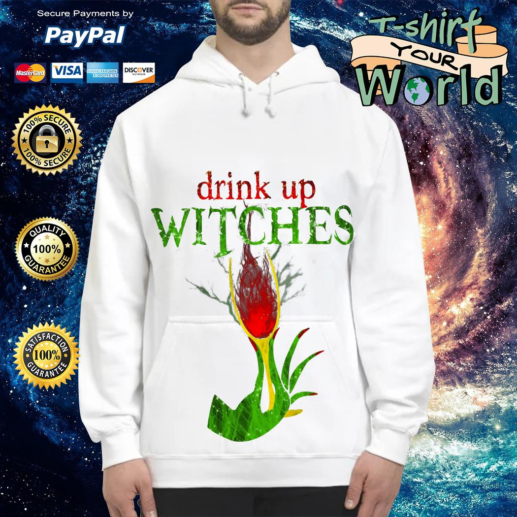Wine Drink Up Witches Halloween Hoodie