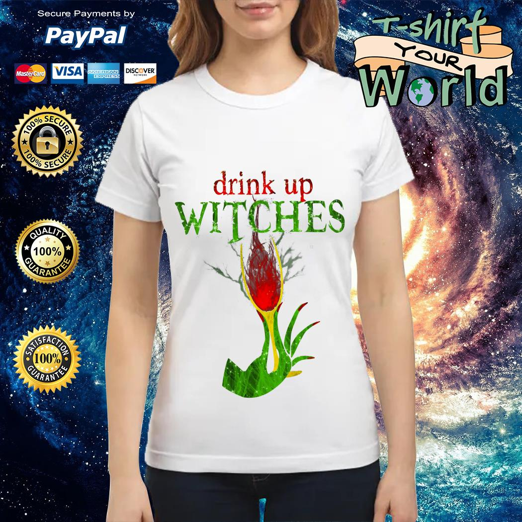 Wine Drink Up Witches Halloween Ladies tee