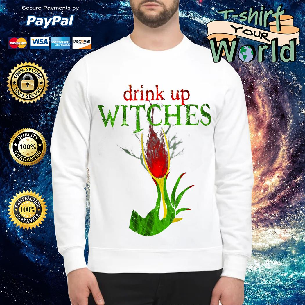 Wine Drink Up Witches Halloween Sweater