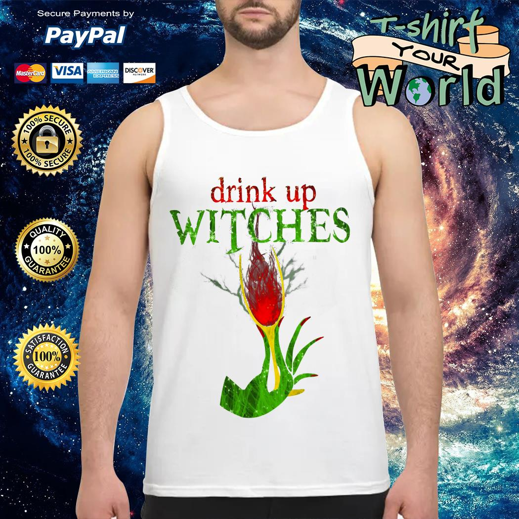 Wine Drink Up Witches Halloween Tank top