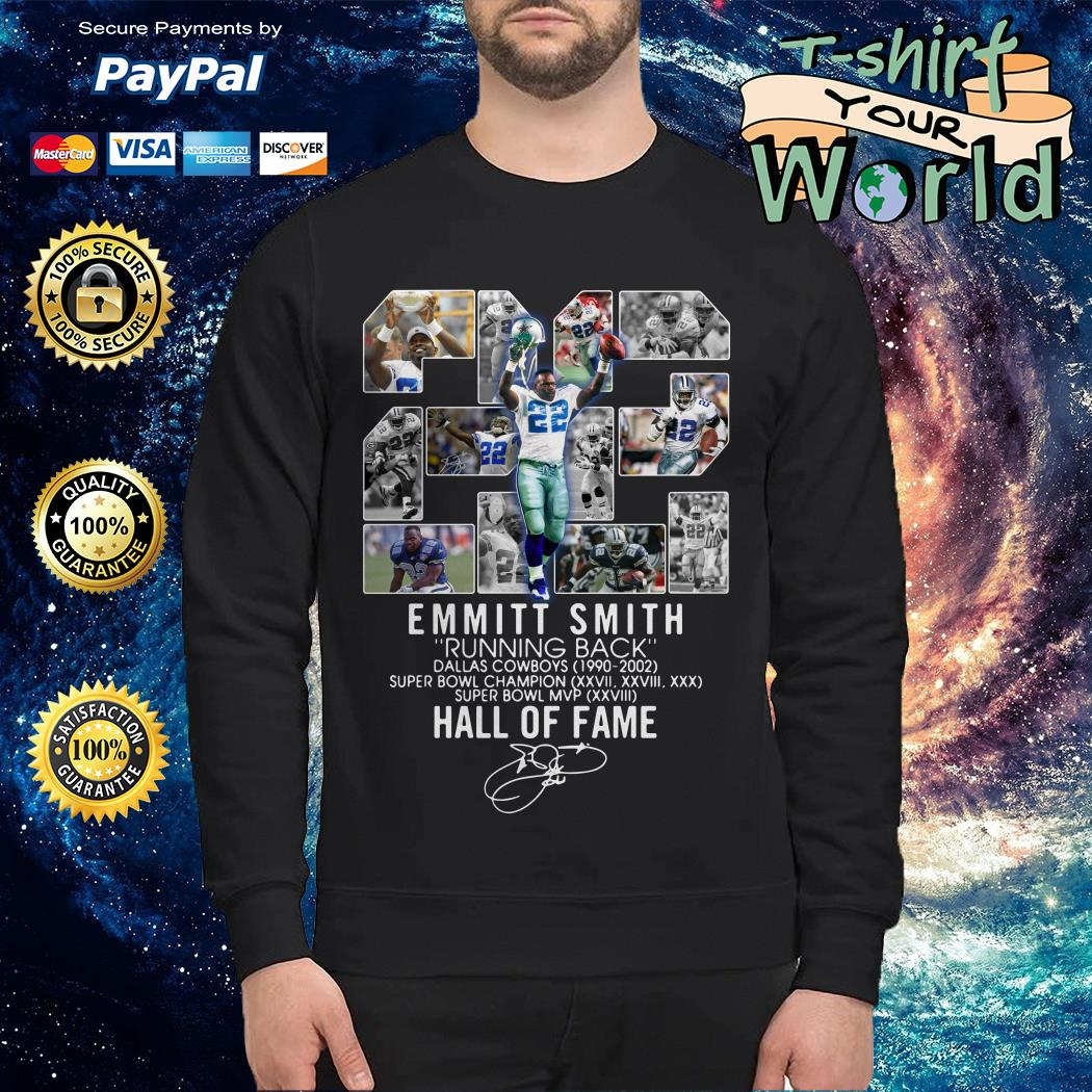 22 Emmitt Smith running back Dallas Cowboys 1990-2002 signature Sweater