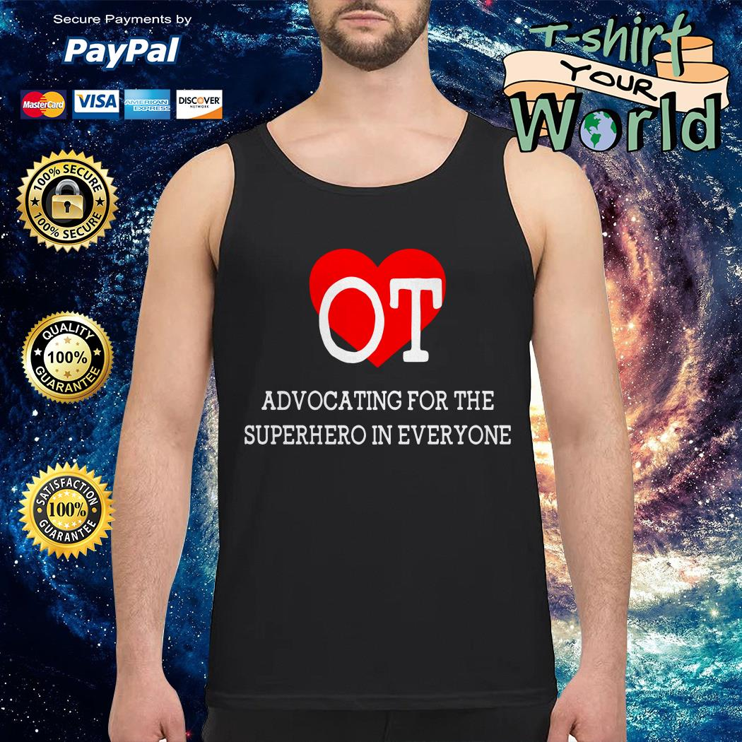 Advocating for the superhero in everyone Tank top