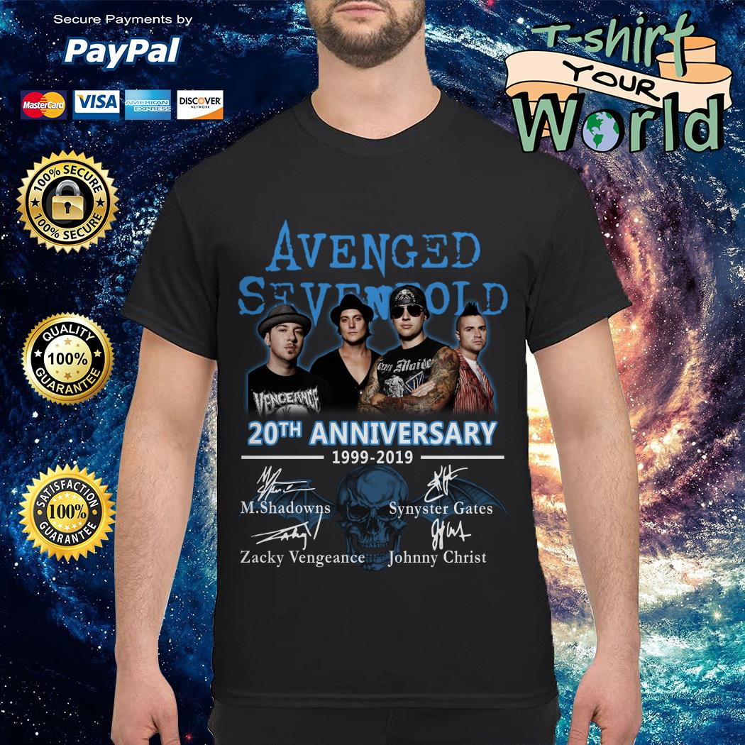 Avenged Sevenfold 20th anniversary 1999 2019 signatures shirt