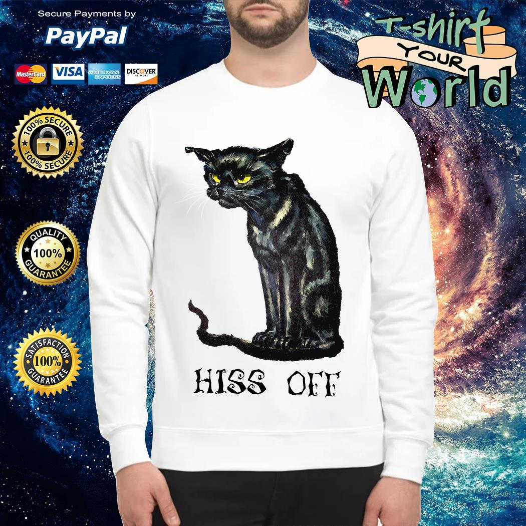 Black cat hiss off Sweater