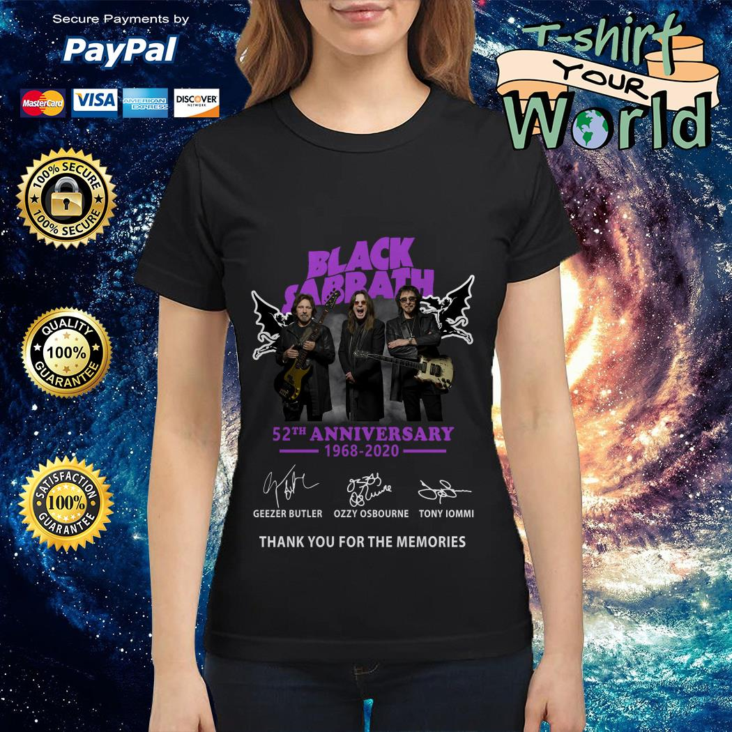 Black sabbath 52th anniversary 1968 2020 signature Ladies tee