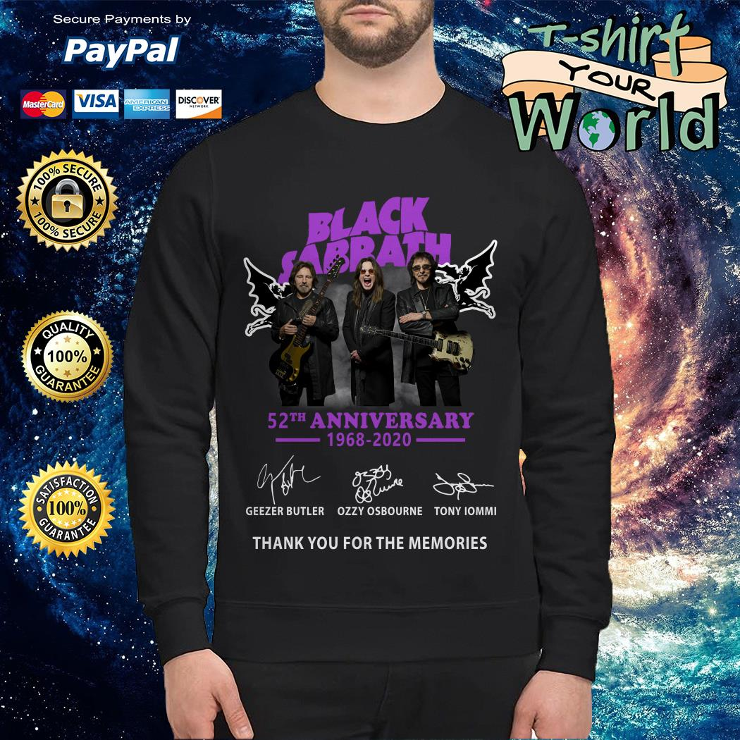 Black sabbath 52th anniversary 1968 2020 signature Sweater