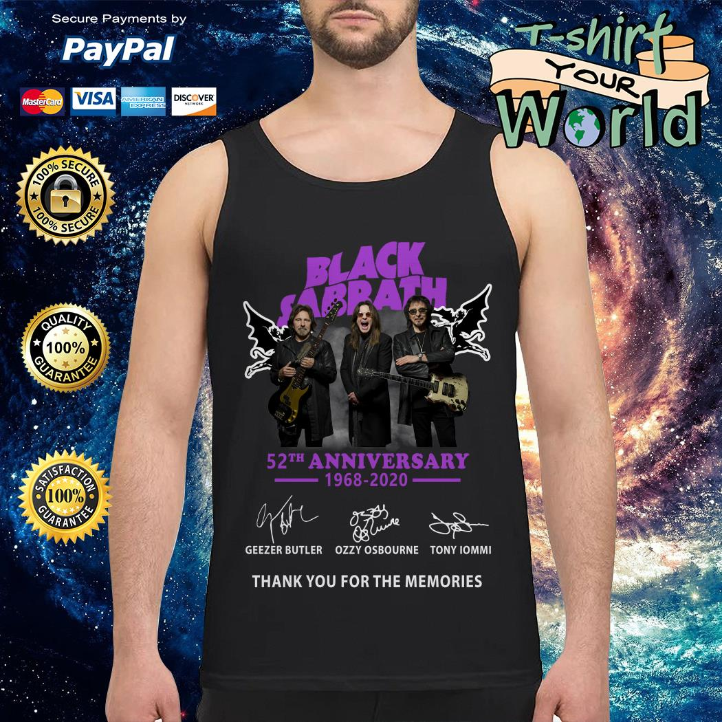 Black sabbath 52th anniversary 1968 2020 signature Tank top