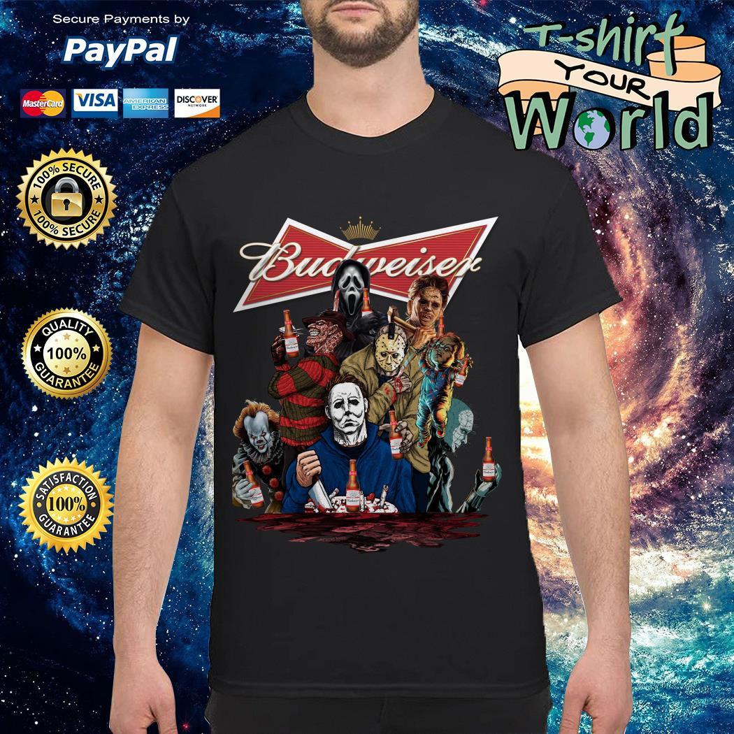 Budweiser horror characters movies shirt