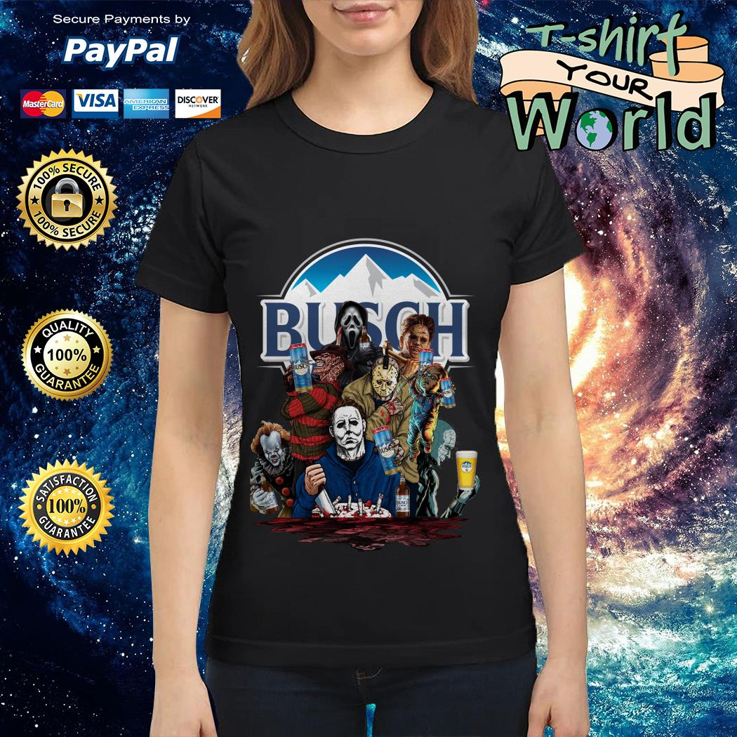 Busch Light horror characters movies Ladies tee
