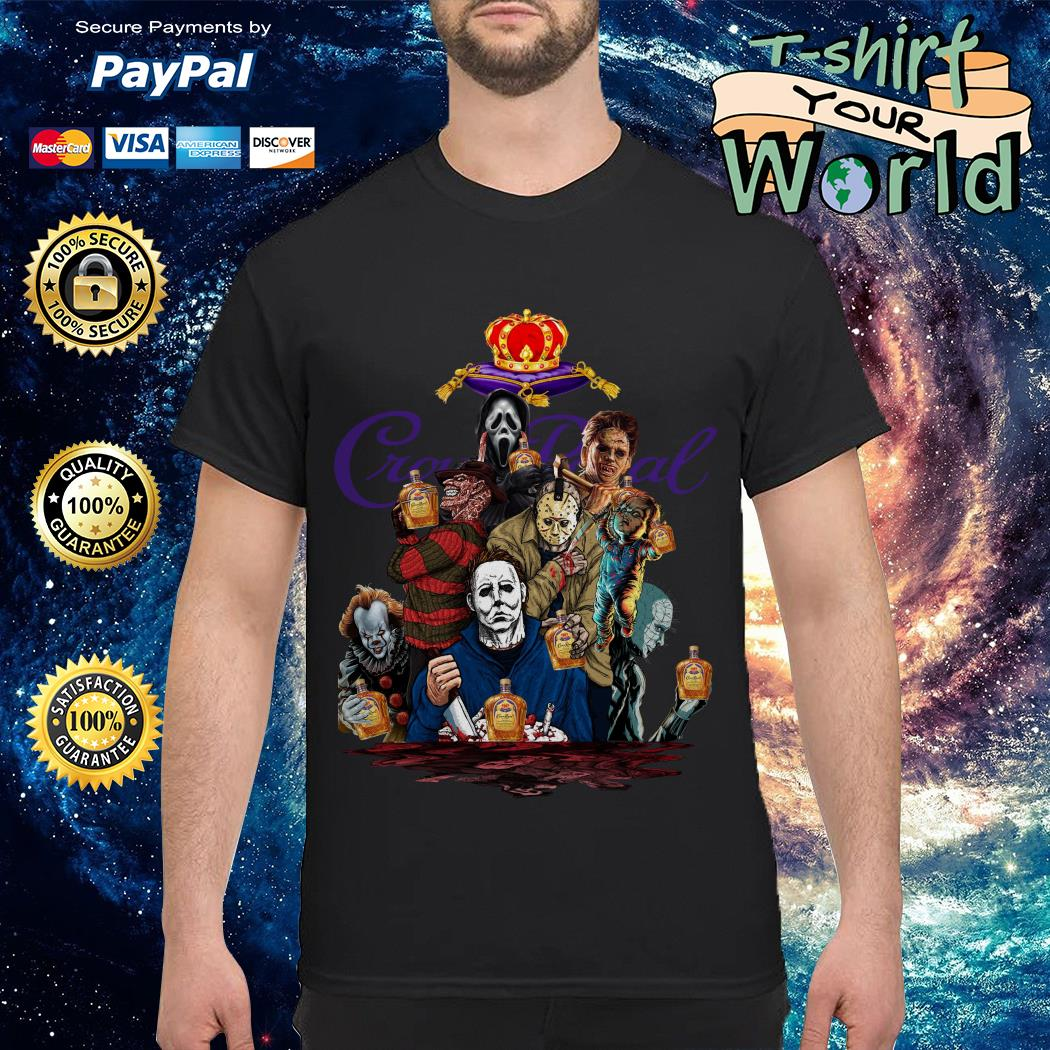 Crown Royal horror characters movies shirt