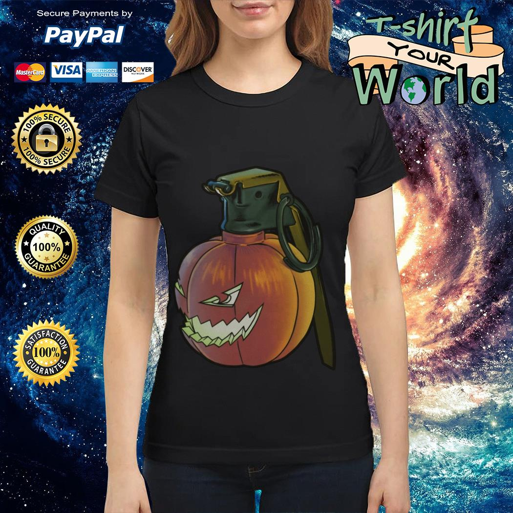 Grenade pumpkin Halloween Ladies tee