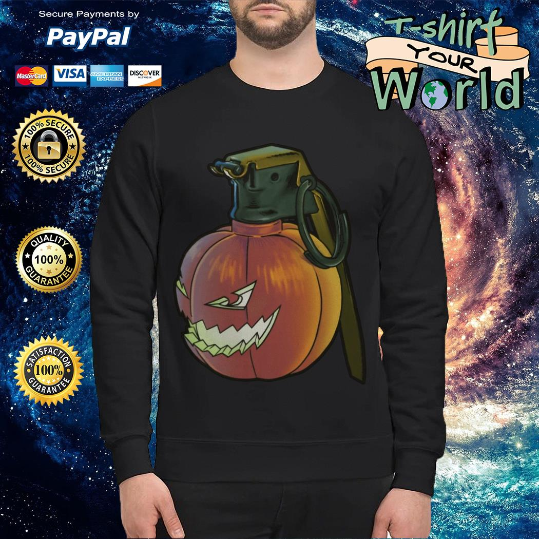 Grenade pumpkin Halloween Sweater
