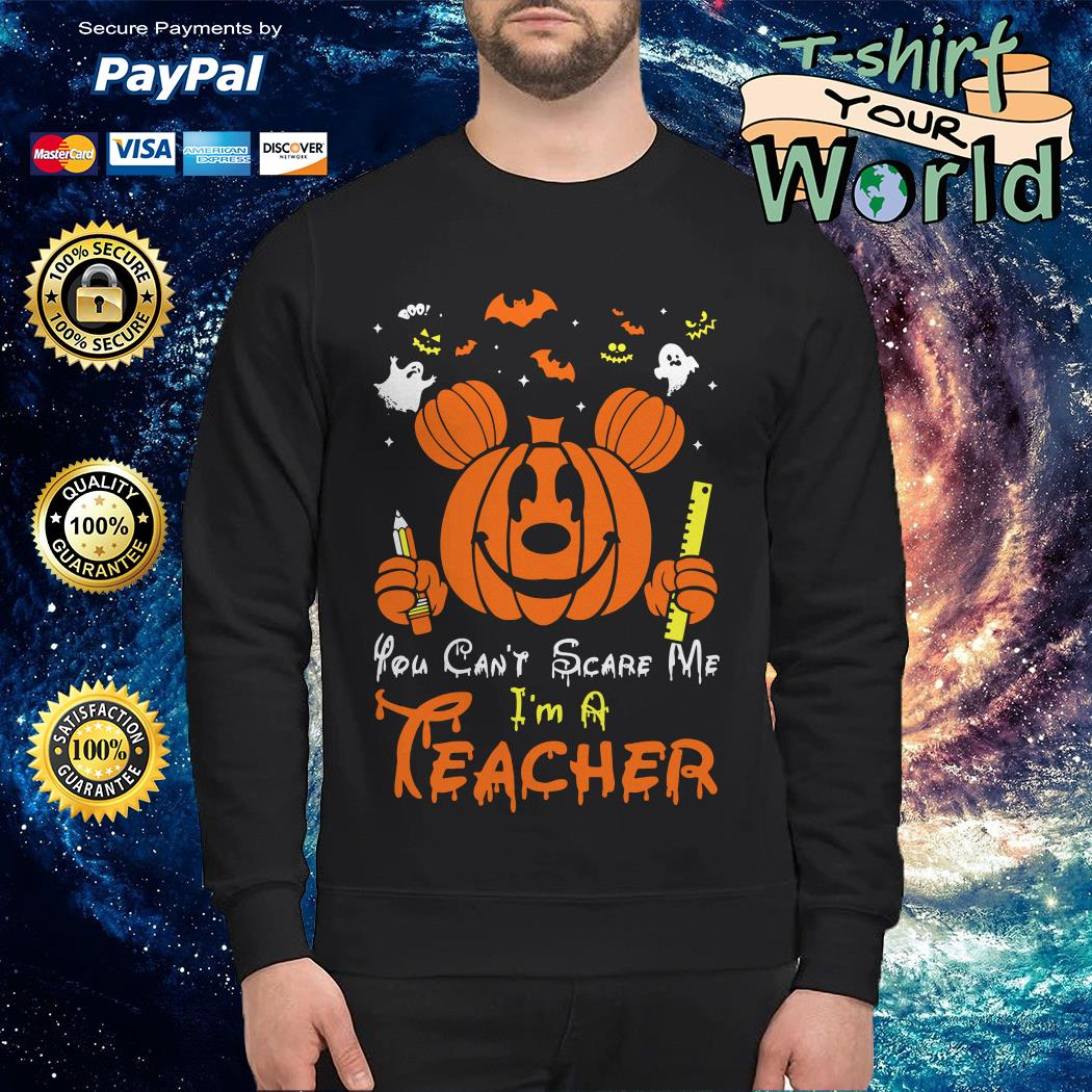 Halloween You can't scare Me I'm a Teacher costume Boo Sweater