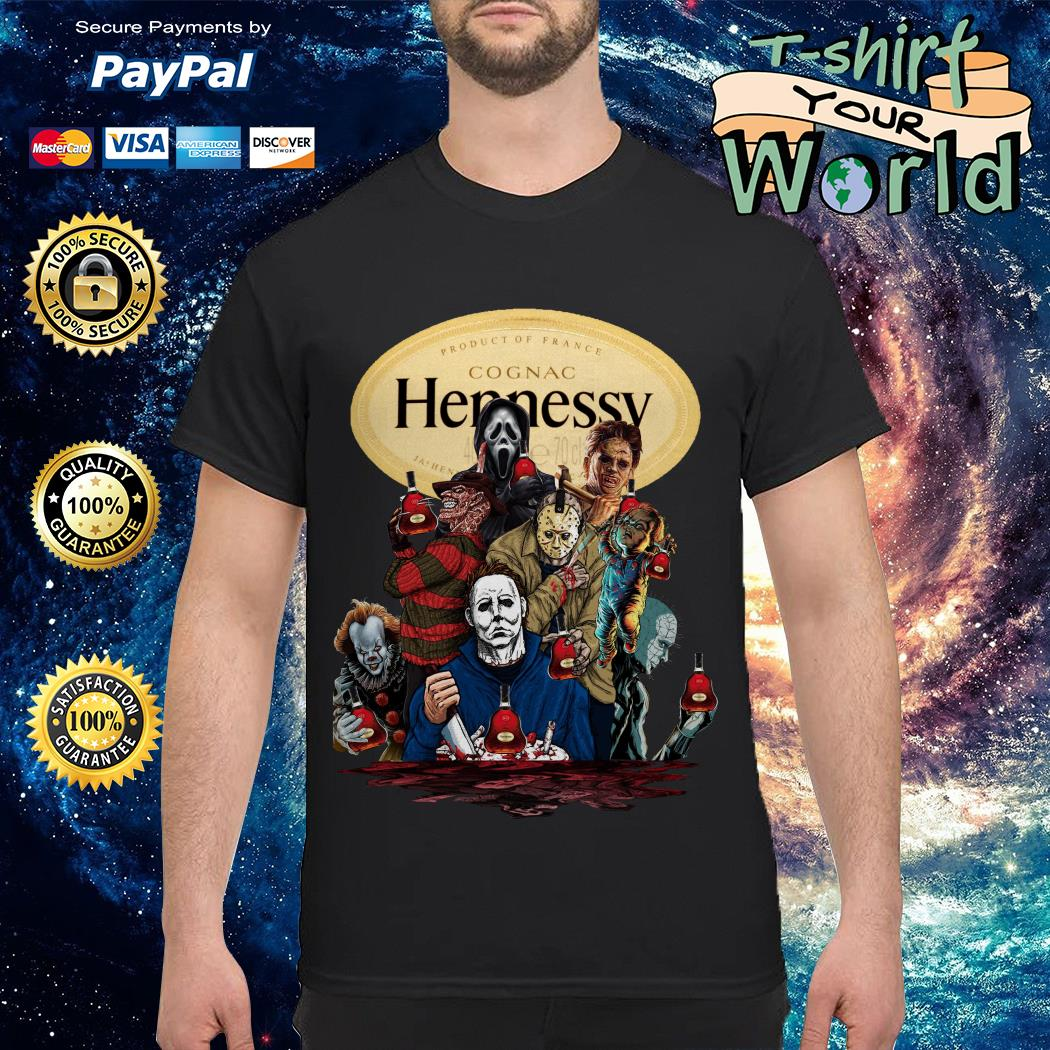 Hennessy horror characters movies shirt