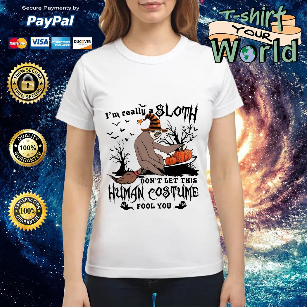 I'm really a sloth don't let this human costume fool you Ladies tee