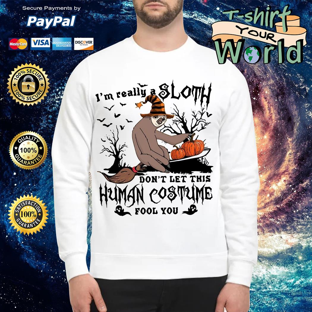 I'm really a sloth don't let this human costume fool you Sweater