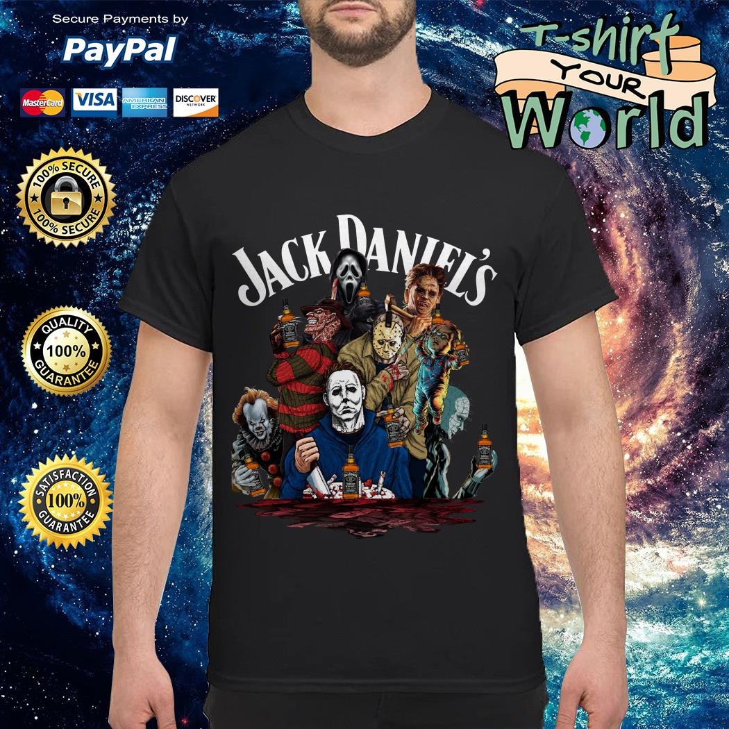 Jack Daniel's horror characters movies shirt