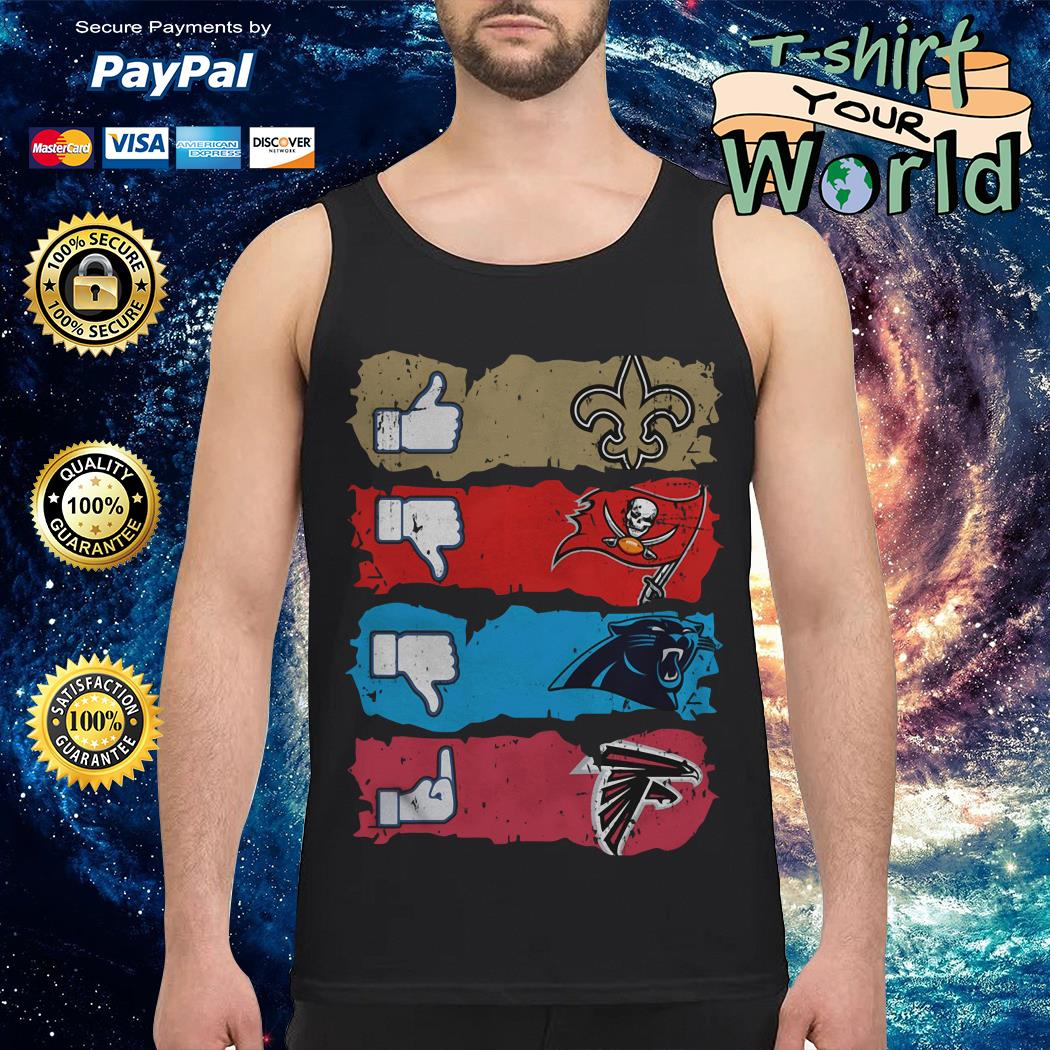 New Orleans Saints Tampa Bay Buccaneers Carolina Panthers and Atlanta Falcons Tank top