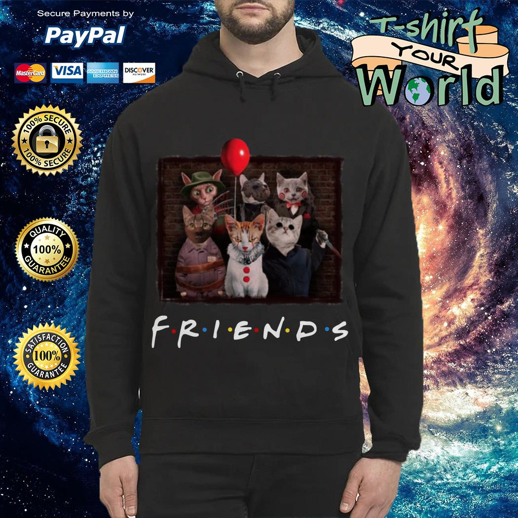 Official Halloween Friends TV Show cat in horror movie character Hoodie
