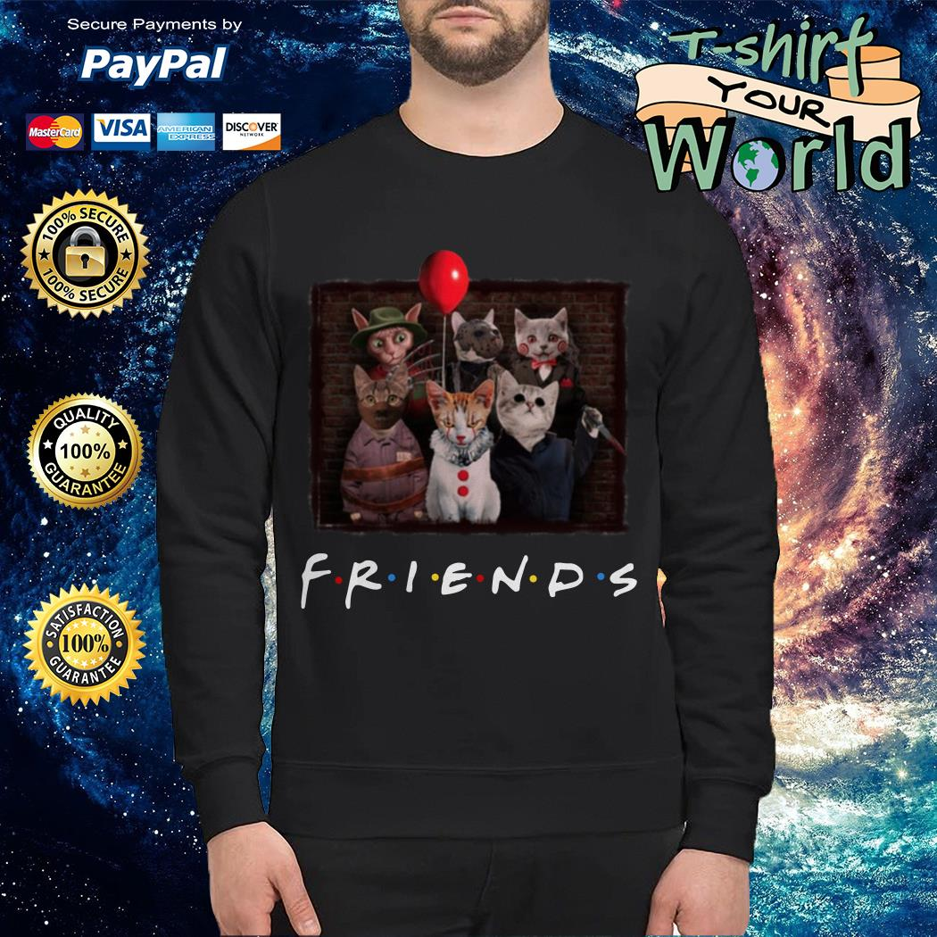 Official Halloween Friends TV Show cat in horror movie character Sweater