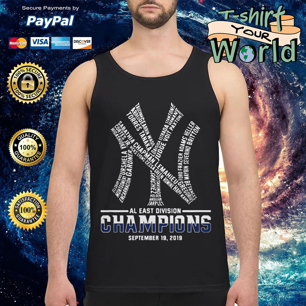 Official New York Yankees AL East division champions September 19 2019 shirt by T-shirtat storeOfficial New York Yankees AL East division champions September 19 2019 Tank top
