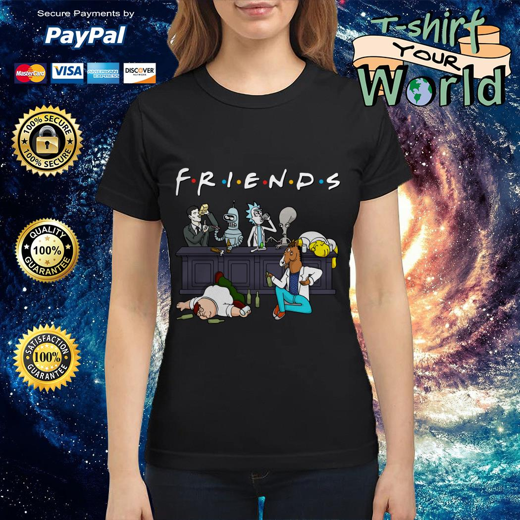 Official Nice Cartoon characters on Netflix Friends Ladies tee
