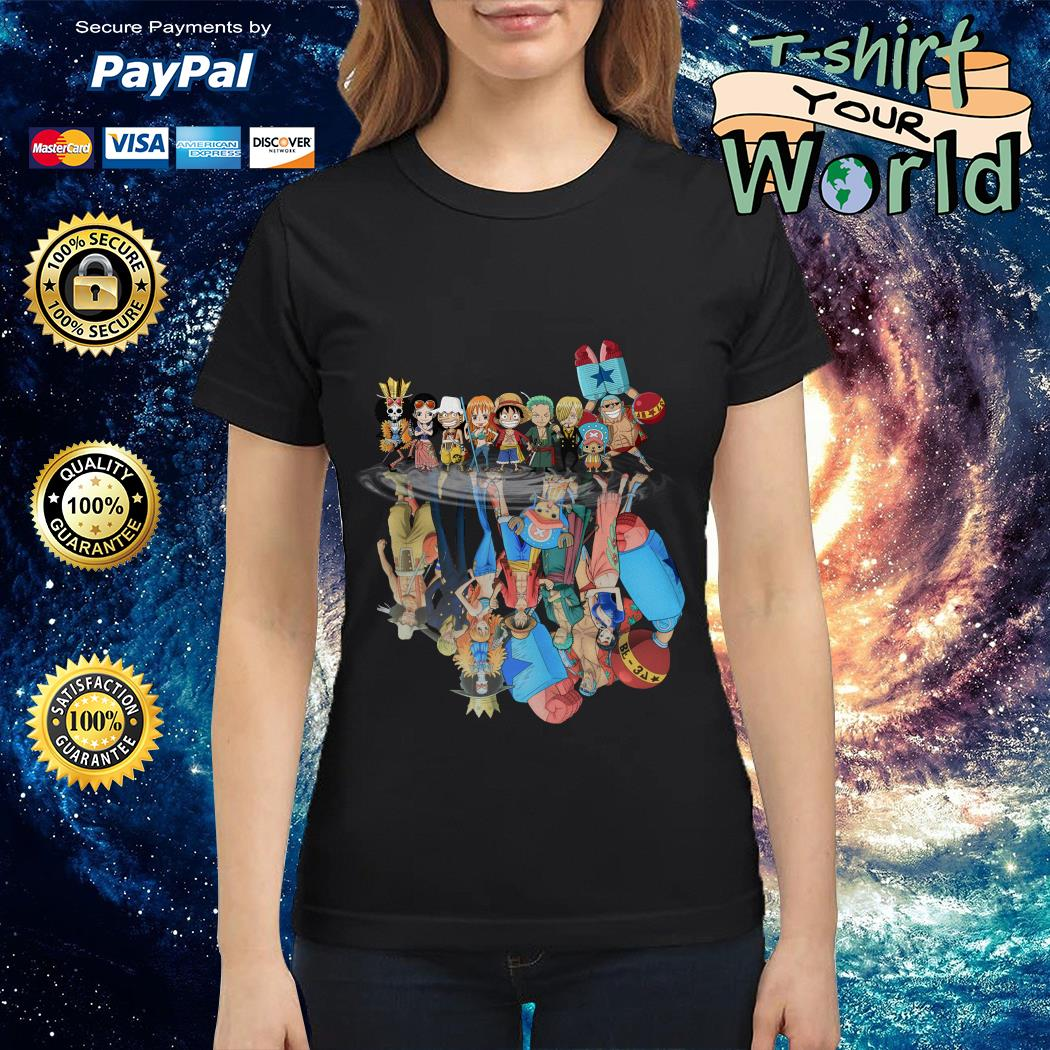 Official One Piece water reflection mirror Ladies tee