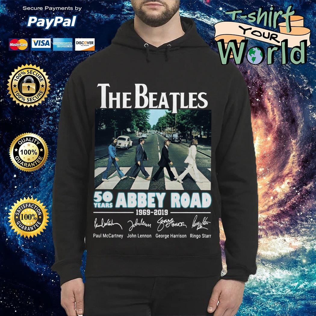 Official The Beatles 50 years Abbey Road 1969-2019 signature Hoodie