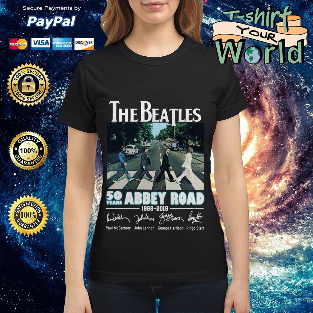 Official The Beatles 50 years Abbey Road 1969-2019 signature Ladies tee