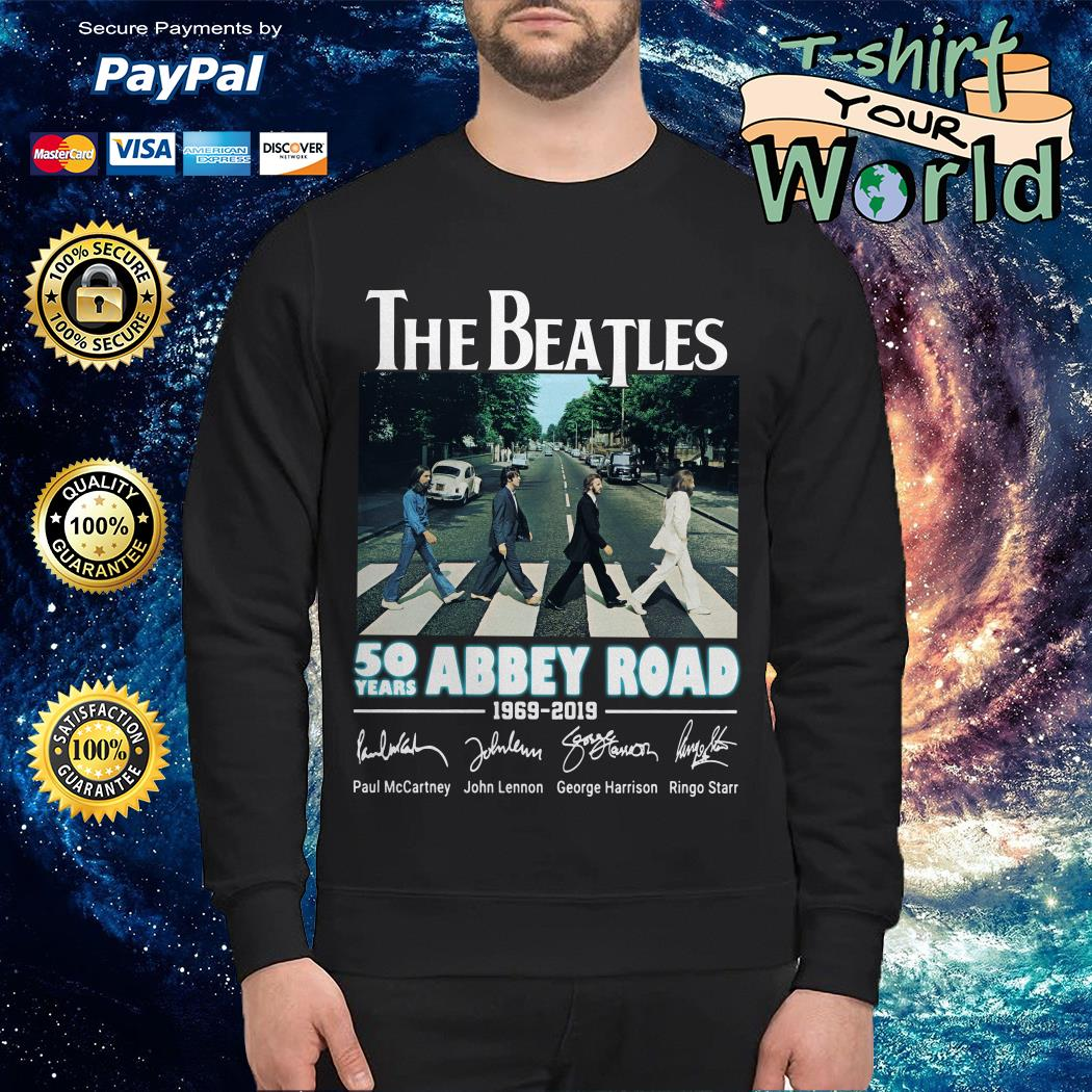 Official The Beatles 50 years Abbey Road 1969-2019 signature Sweater