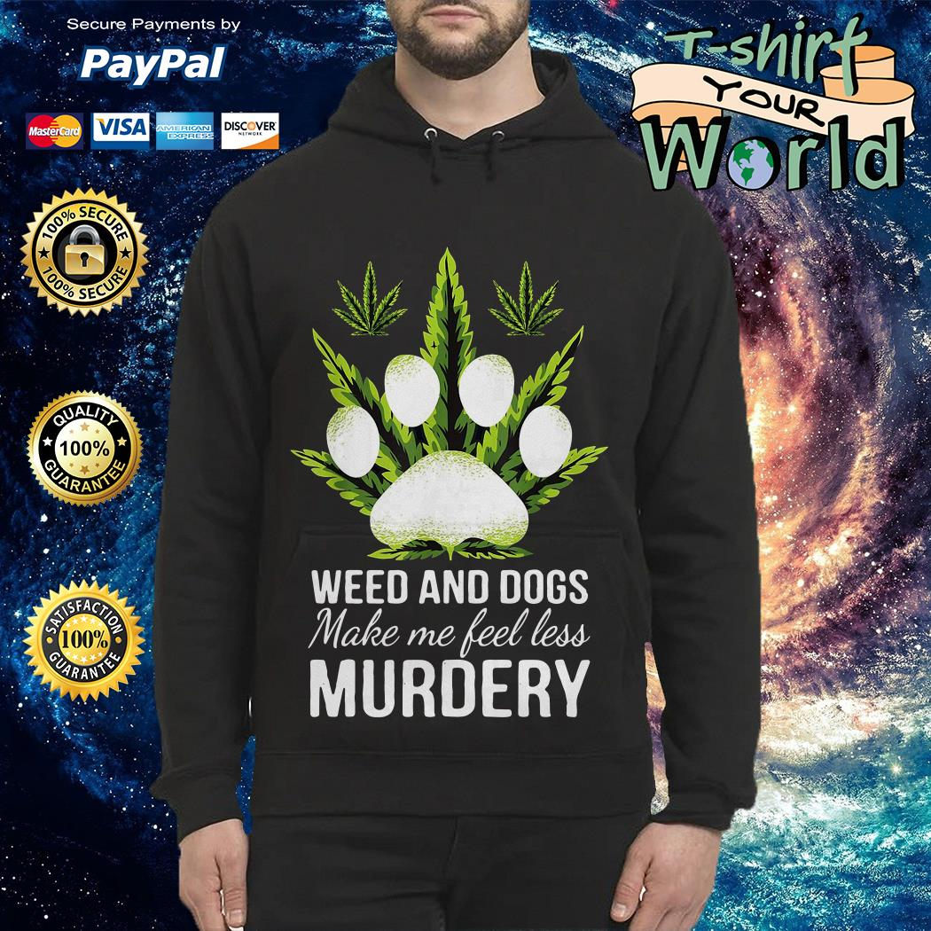 Official Weed and dogs make me feel less murdery Official Weed and dogs make me feel less murdery Official One Piece water reflection mirror Hoodie