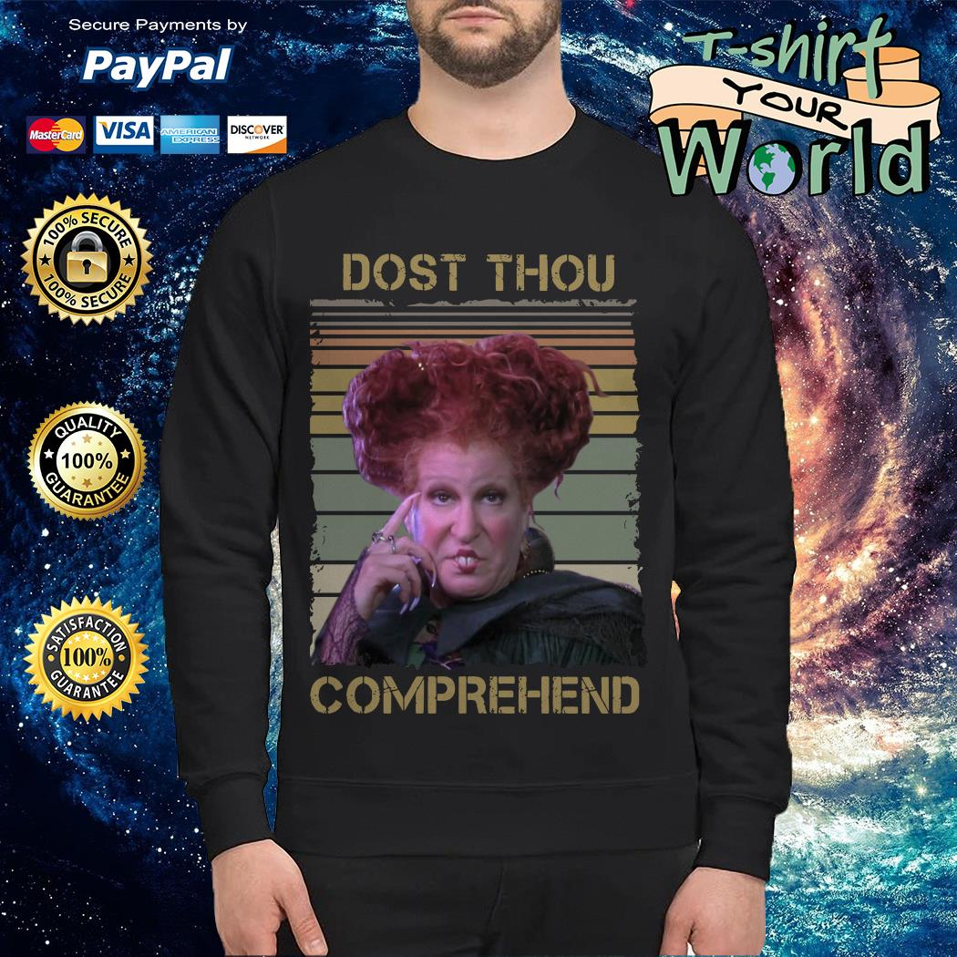 Official Winifred Sanderson dost thou comprehend vintage Sweater