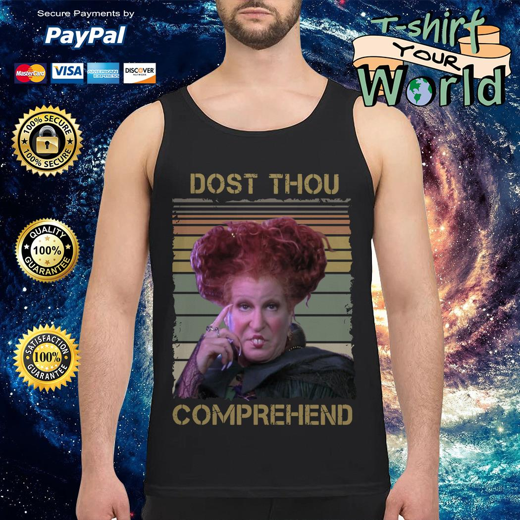 Official Winifred Sanderson dost thou comprehend vintage Tank top