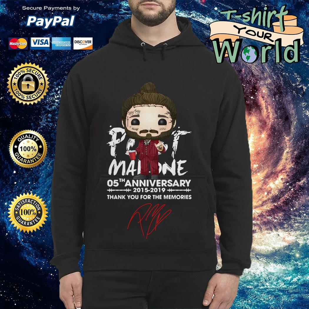 Post Malone 05th anniversary 2015 2019 thank you for the memories Hoodie