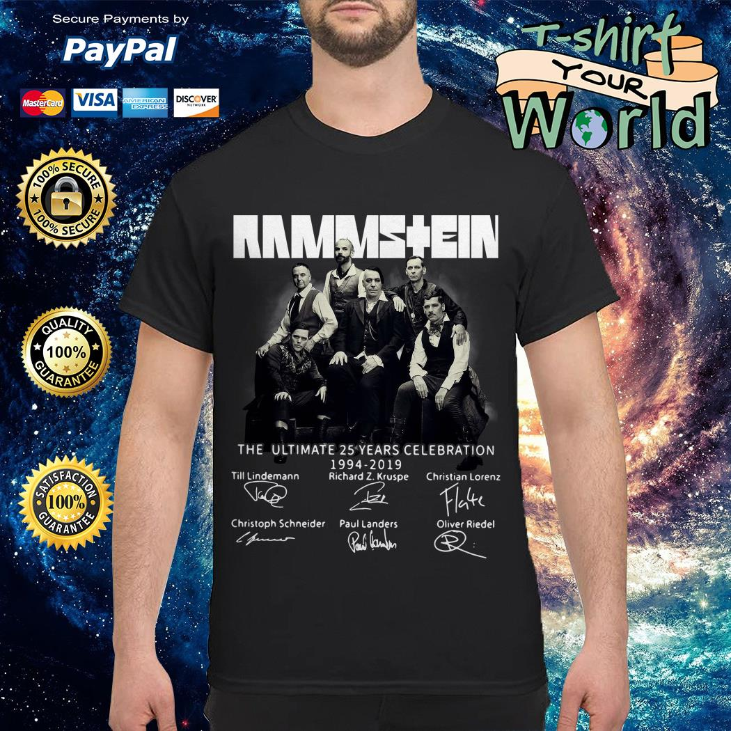 Rammstein the ultimate 25 years celebration 1994-2019 signatures shirte 25 years celebration 1994-2019 signatures Sweater
