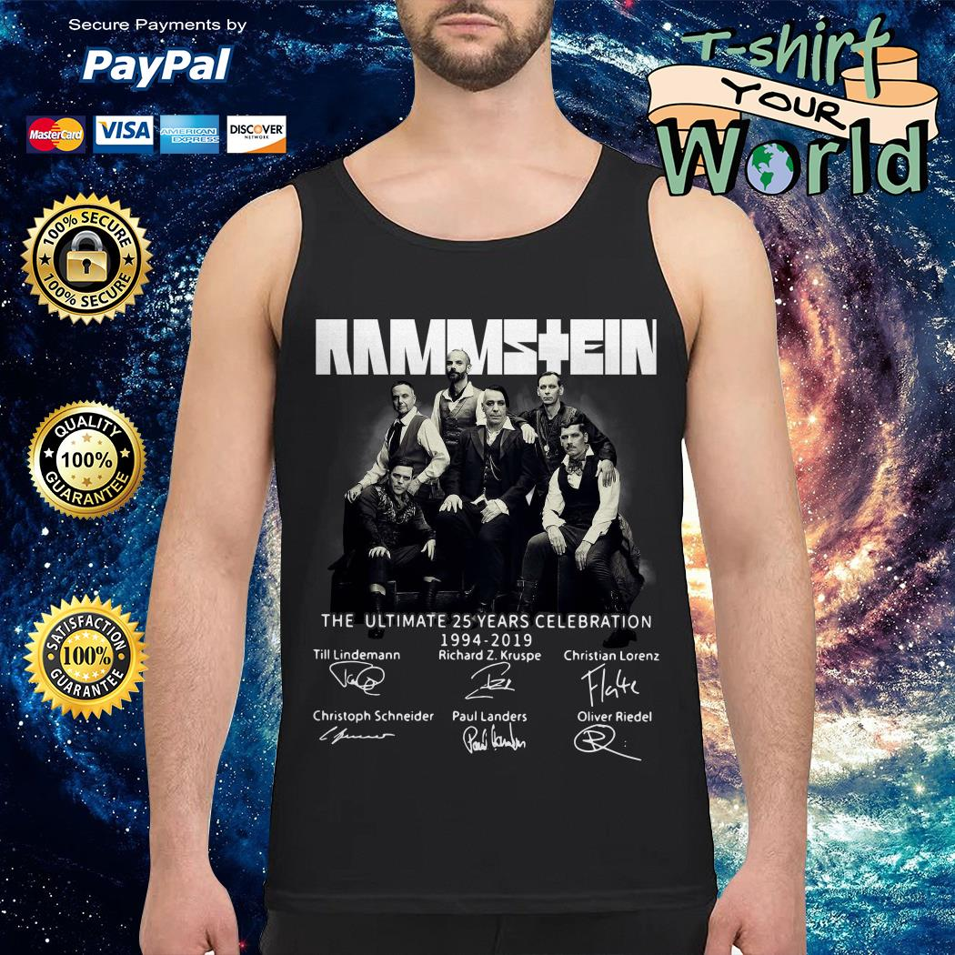 Rammstein the ultimate 25 years celebration 1994-2019 signatures Tank top
