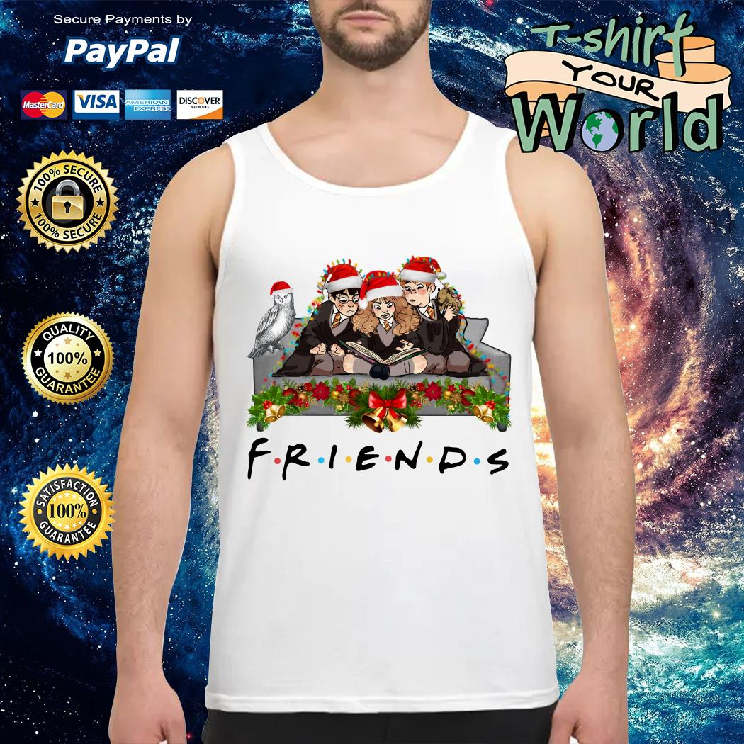 Harry Potter Hermione and Ron Weasley Christmas Friends TV show Tank top
