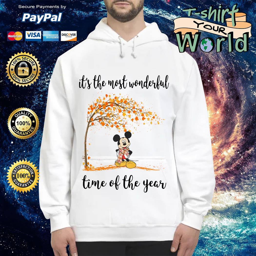 Mickey Mouse and Autumn leaf tree it's the most wonderful time of year shirt