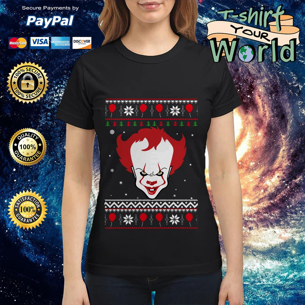 Pennywise It Scary Face Christmas shirt